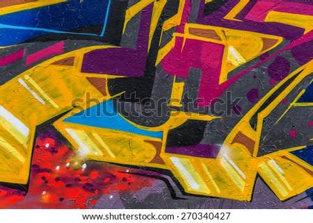 Beautiful Street Art Graffiti Abstract Creative Stock Photo ...