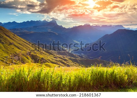 Beautiful summer landscape of the Italian Alps, Dolomites, South Tyrol. Location Auronzo, Italy, Europe.