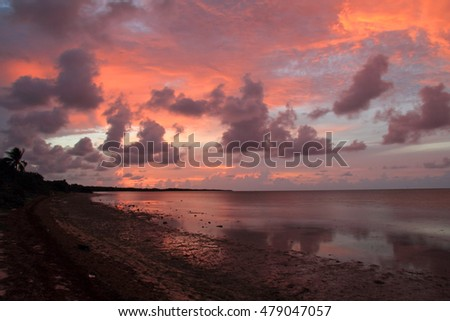 Beautiful Sunrise in Long Key State Park, Florida Keys