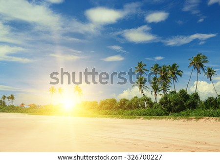 beautiful sunrise over the sea beach