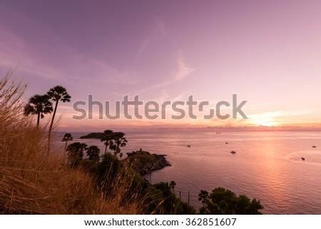 Sunset Laem Prom Thep Cape Stock Photo 294582866 ...