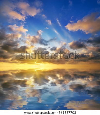 beautiful sunset on the sea. beautiful seascape