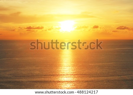 Beautiful sunset over sea
