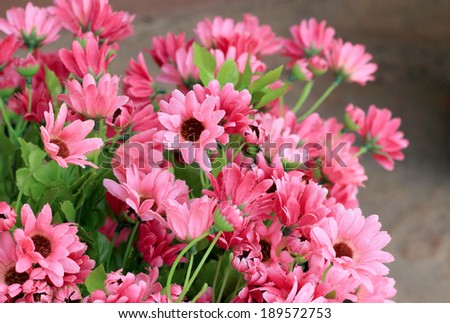 Beautiful the chrysanthemum artificial flowers.
