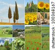 Beautiful tuscan landscape collage, Italy, Europe - stock photo