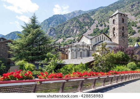 Beautiful view of Andorra La Vella, capital of Andorra.