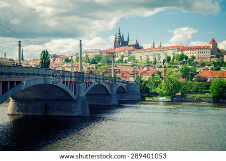 beautiful views of the old town in Prague