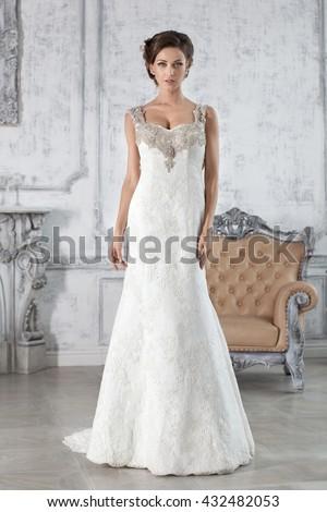 Beautiful Wedding Dress Bride In Paris