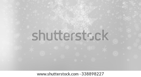 Beautiful white or grey Christmas background.