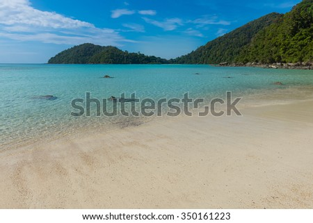 Beautiful white sand beach and crystal clear water of Koh Surin ,Phuket,Thailand