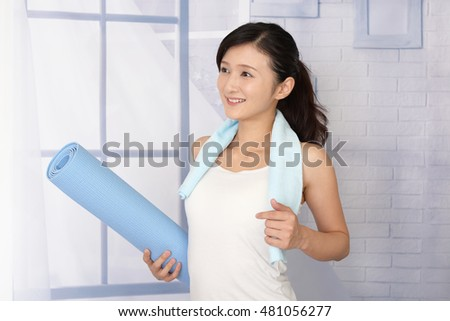Beautiful woman doing exercises