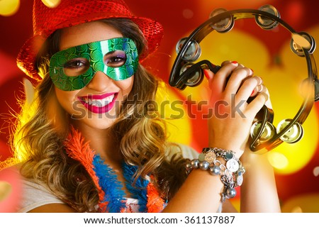 Beautiful woman dressed for carnival night