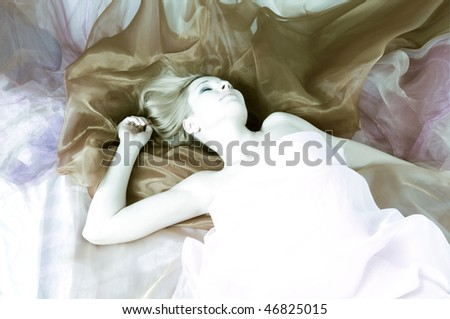 beautiful woman in silk