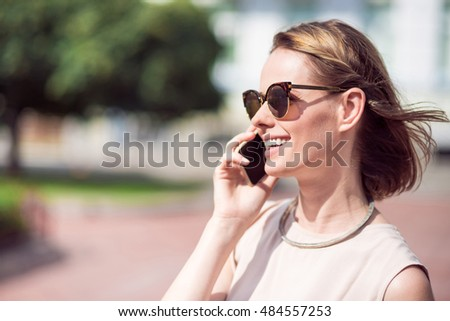 Beautiful woman using phone