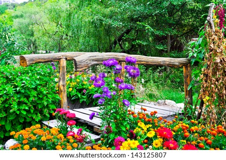 Collage Beautiful Gardens Spring Stock Photo 49644352