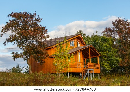 Beautiful wooden cottage in forest peaceful place ideal home getaway for happy family