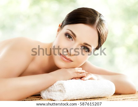 health beauty concept dreaming woman updo stock photo 303889283 shutterstock. Black Bedroom Furniture Sets. Home Design Ideas