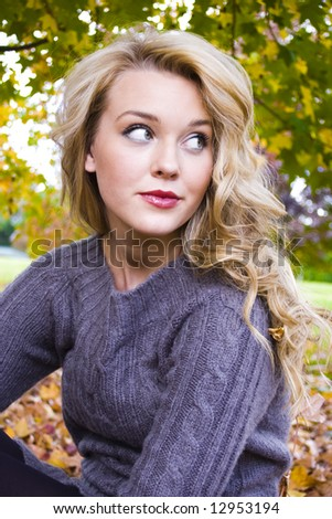 beautiful young woman at a vineyard