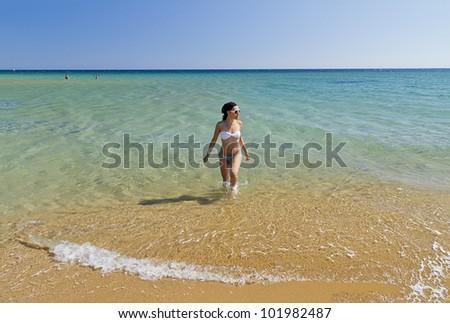Beautiful Model On Tropical Beach Stock Photo 139541147 ... - photo#26