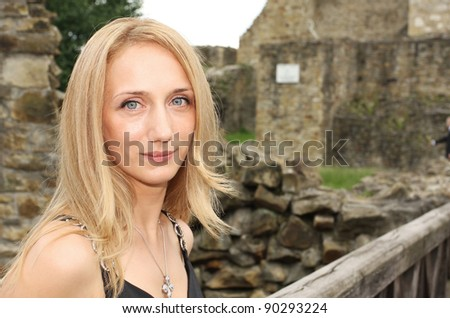 Shutterstocknickubeautiful women beautiful young woman portrait near a old fortress ruin voltagebd Image collections