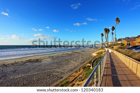Beautifull view of Pacific Ocean, La Jolla California