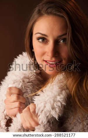 Beauty portrait of an attractive caucasian woman