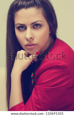 Beauty portrait of young beautiful girl