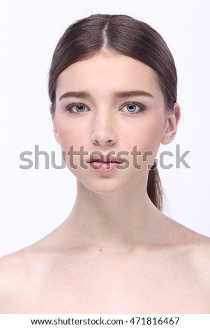 Beauty Spa Woman with perfect skin Portrait Caucasian