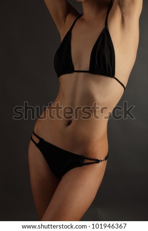 beauty  woman body in swimsuit