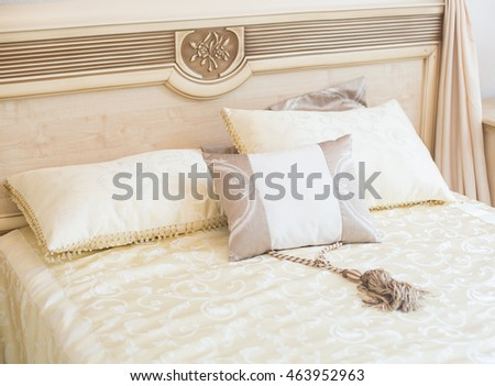 bed in the bedroom