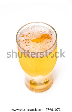 Beer isolated on a white studio background.