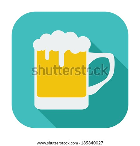 Beer. Single flat color icon.