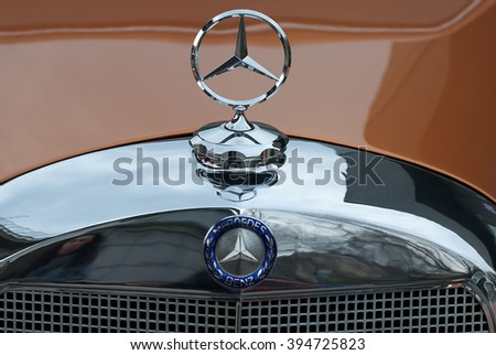 "BELGRADE-MARCH 19:: The 5th DDOR BG INTERNATIONAL CAR SHOW "".Car Mercedes 170 S on Belgrade car show.March 19,2016 in Belgrade,Serbia."