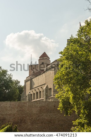 Belgrade, Serbia - July 29, 2014: Among the walls of the Kalemegdan fortress