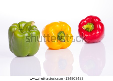 Bell pepper on a white background.