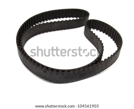 belt from the motor vehicle on a white background