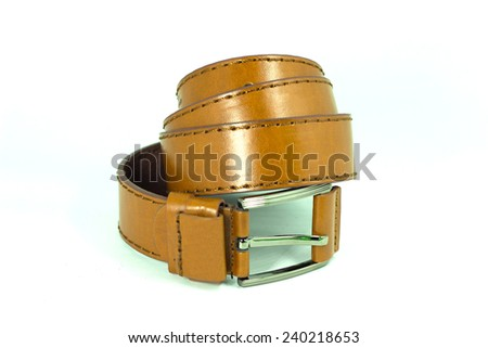 Belt make from leather for wear waist.