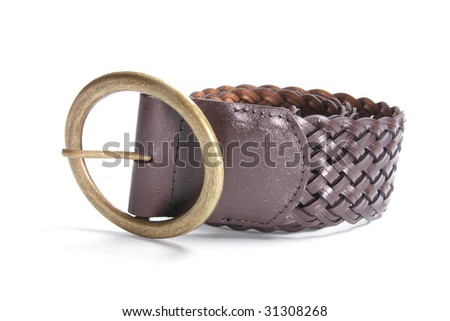Belt on Isolated White Background