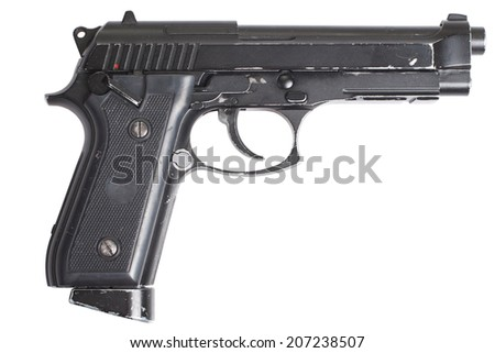 Beretta M9 gun isolated on white background