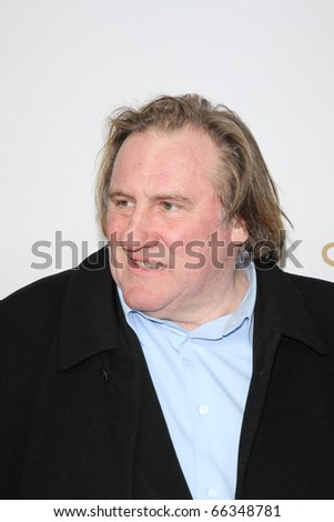 BERLIN - DECEMBER 01: Gerard Depardieu attends the 'Small World' premiere at the Cinema Paris. December 1, 2010 in Berlin, Germany.