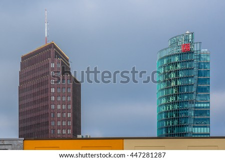 BERLIN, GERMANY APRIL 20, 2016: Berlin cityscape. Berlin - Germany capital and cultural center.