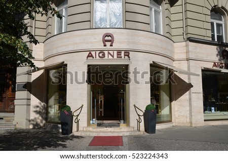 BERLIN, GERMANY - OCT 10, 2016 - Aigner Boutique in Berlin, the capital city of Germany