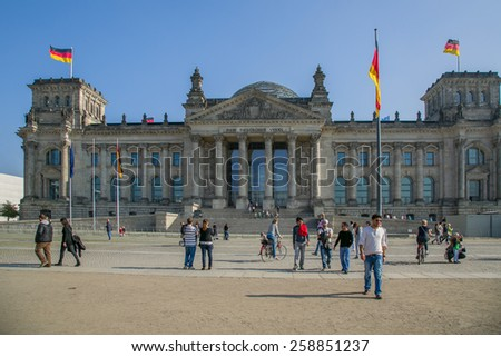 Berlin, Germany, October 5: The Reichstag on October 5, 2014 in Berlin, Germany