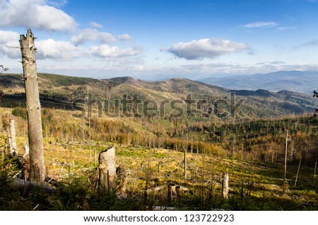 Beskid - mountains in southwest Poland, nice landscape
