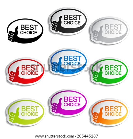 best choice oval butons with gesture hand
