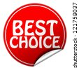 Best choice sticker - stock photo