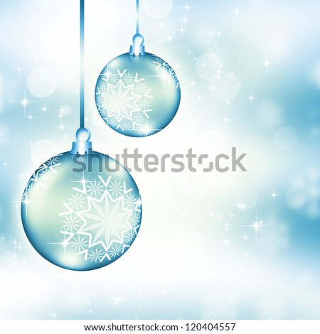 Best elegant Christmas background with silver baubles