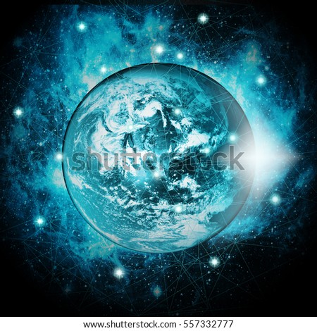 Best Internet Concept of global business network line or link. Elements of this image furnished by NASA