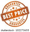 Best price guarantee stamp - stock photo