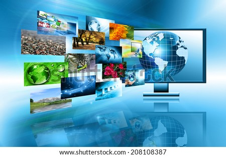 Best television and internet production technology concept